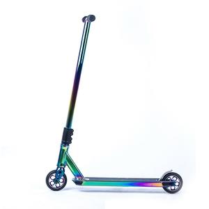 Pro Aluminum Performance Freestyle Stunt pro Scooter Rainbow Neo chrome stunt scooter