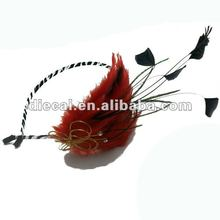 newest women luxury headband with rhinestone and feather decoration accessory wholesale