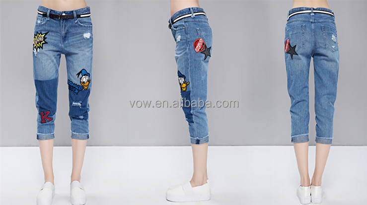2015 New Fashion Girl Jeans Pants New Style Women Wholesale Short ...
