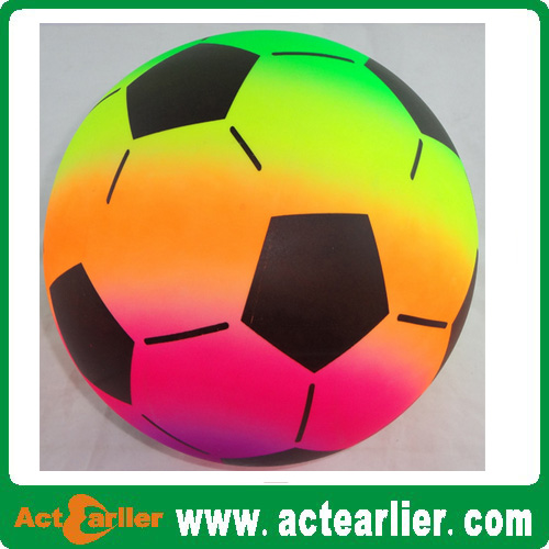 cheap hot sale 8.5 inches rainbow soccer ball/playground ball/volleyball