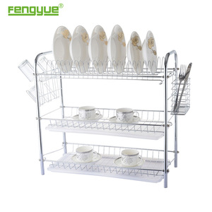 Kitchen Storage Basket Corner Collapsible Drainer Drying Chopstick Dish Plate Bowl Rack