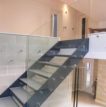 Superbe Stainless Steel Wire Handrail Indoor Wooden Stair Stringer