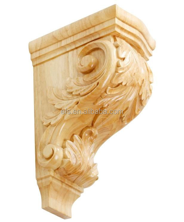 wholesale exquisite wood acanthus leaves corbels