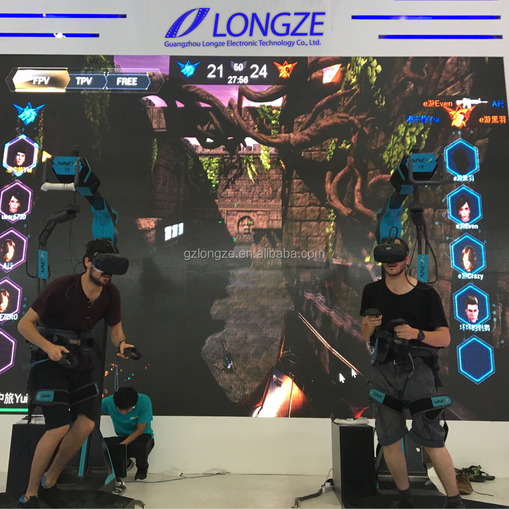 2017 Longze Factory Standing Shooting Htc Vive Racing Treadmill Simulator Virtual Reality 9d Vr Walker