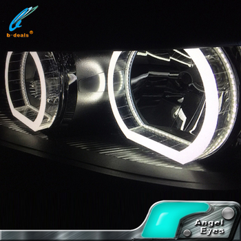Newest For BMW Style Crystal Angel Eyes Halo Rings For Bmw E30 E36 E38 E46  E90
