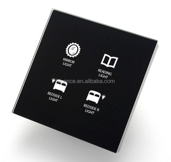 Tempered Glass Smart Touch Switch for Automation Home and Hotel