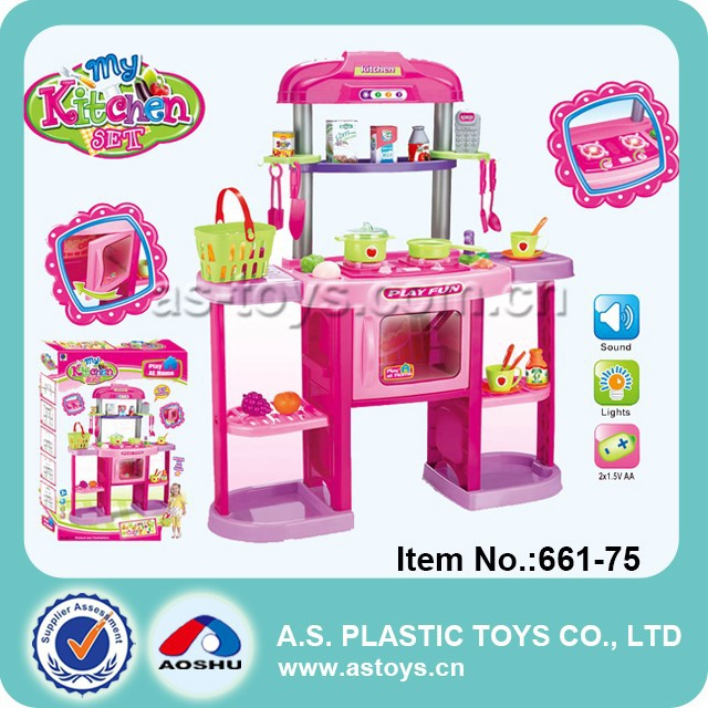 Play At Home Funny Kids Play Kitchen Breakfast Set With Light And Sound