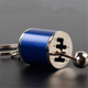 Gear metal keychain car gear modified key ring reducer head accessories free shifting pendant