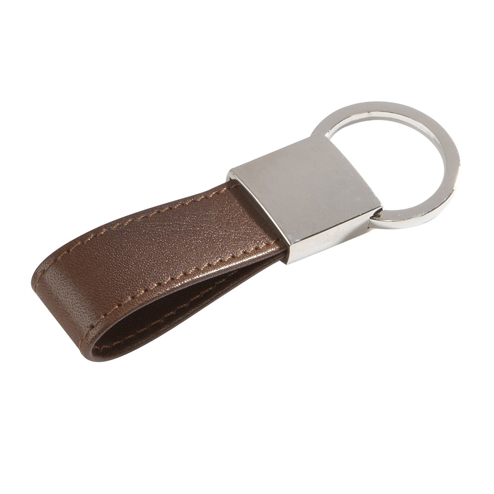 China supplier fashion most popular colorful custom made leather keychain with custom logo stamped