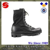 German safety Men cowboy genuine leather black army boots