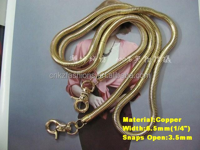 Purse Shoulder Crossbody Chain Strap Diy Metal Replacement Handbag Snake