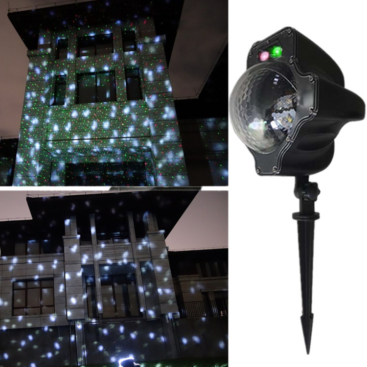 120V DC6v xmas snowfall led light waterproof IP65 white snow light effect projector