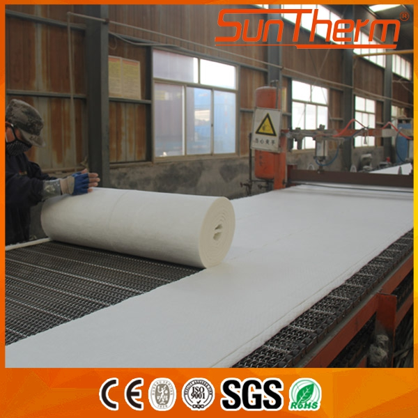 Pure white High temp 1260C fire resistance carton or woven bag package ceramic fiber blanket
