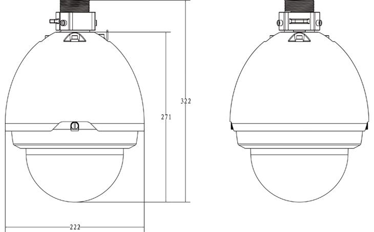 3 Megapixel Full HD 20x IP PTZ Dome Camera