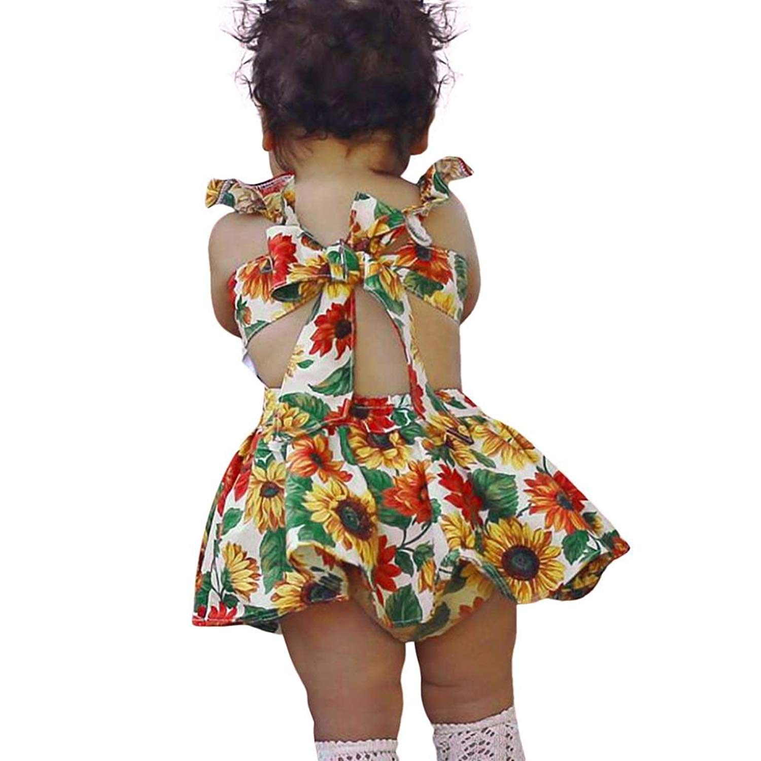 Amanod 2PC Toddler Kids Baby Girls Solid Tops+Floral Pants Outfits Set Clothes