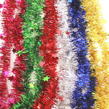 Christmas decoration birthday party decorations Wedding supplies Christmas coloured ribbon with little star madder color bar