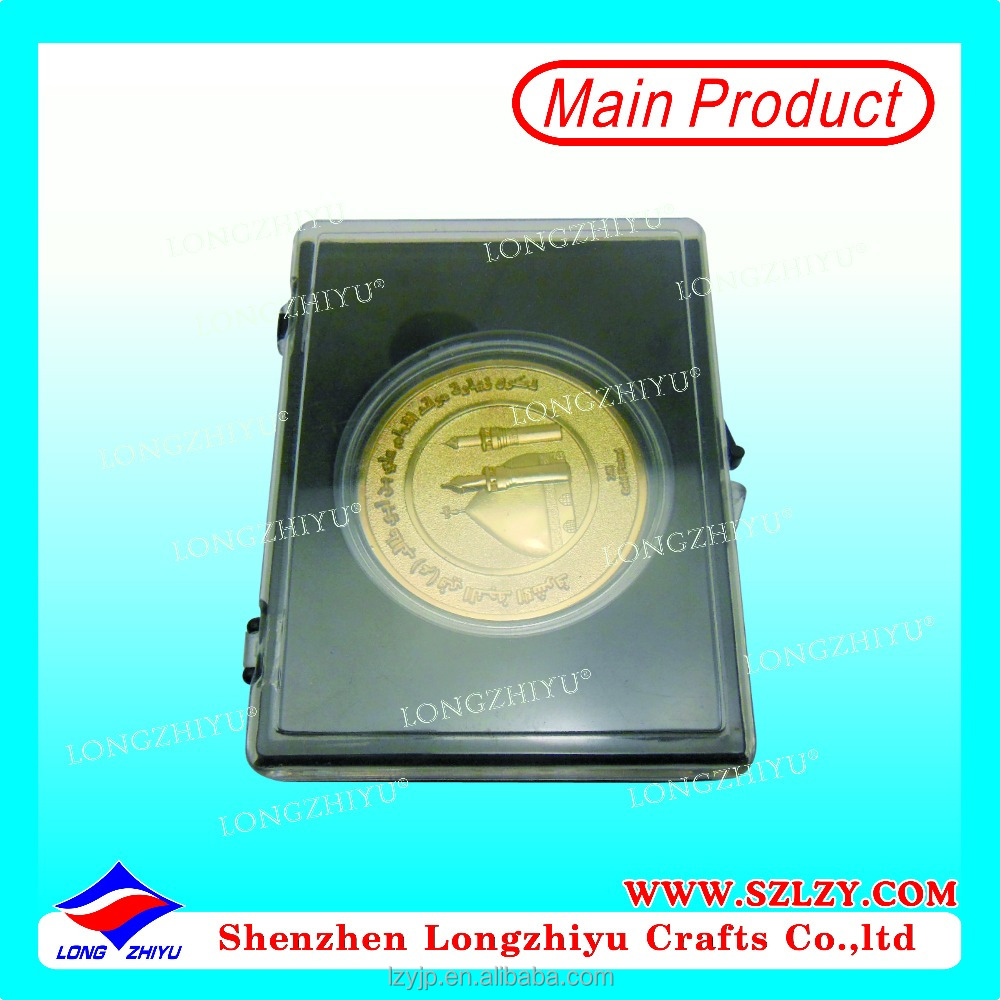 Factory Made coin Gold 3D Coin With Plastic Box