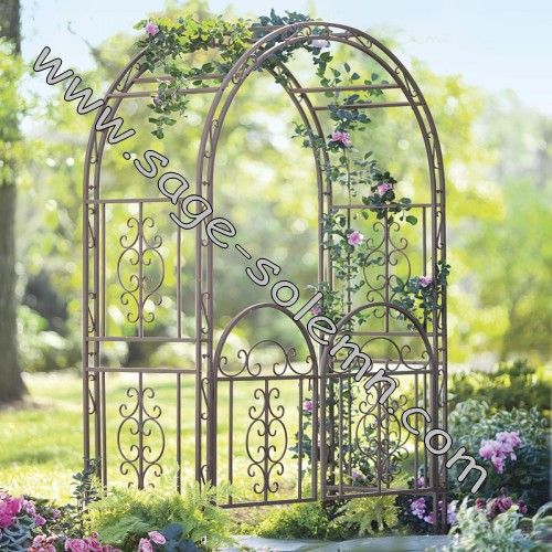 Metal Garden Arch With Gate Buy Garden ArchWire Garden Arch