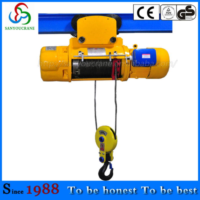 Electric Wire Rope Hoist 1 Ton Electric Wire Rope Hois1 Ton 2ton ...
