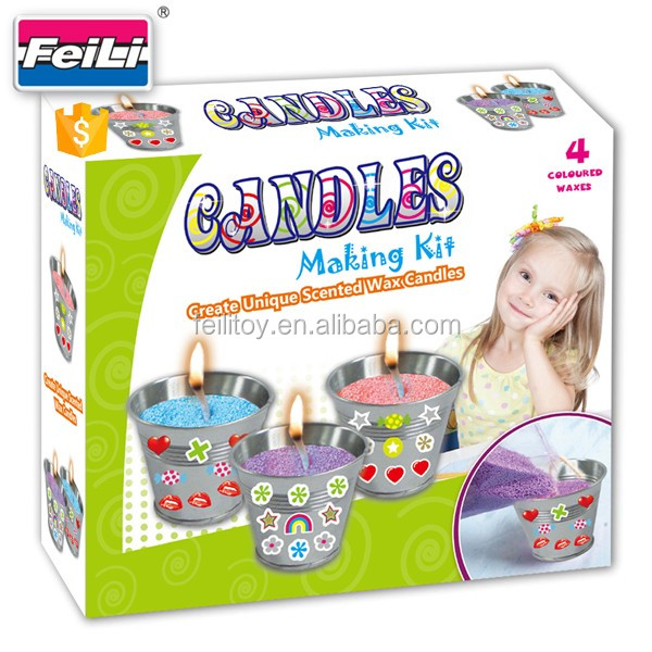 2017 Hot Selling Candle Making Kits With 3 Metal Cups Children Craft