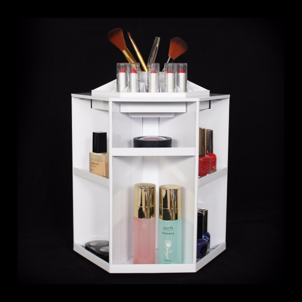 Counter Cosmetic Makeup Display Organizer, Clear Compact Powder Holder,8 Removable Acrylic Eyeshadow Display Stand Rack Supplier
