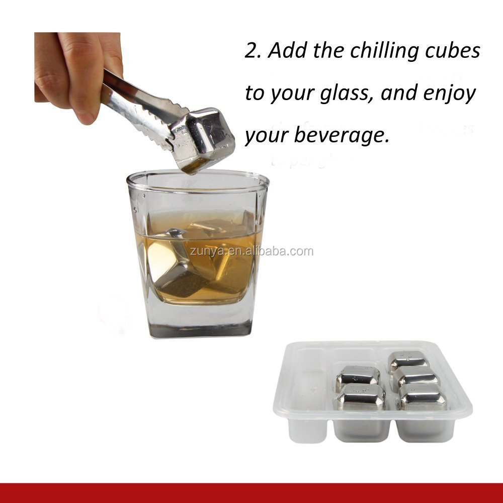 Different Packaging Reusable Stainless Steel Ice Cube,Whisky Stone ...