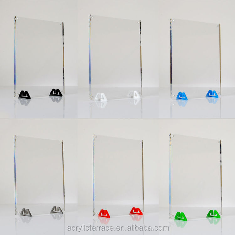 Double Sided Freestanding Acrylic Photo Frame,2 Small Acrylic Feet ...