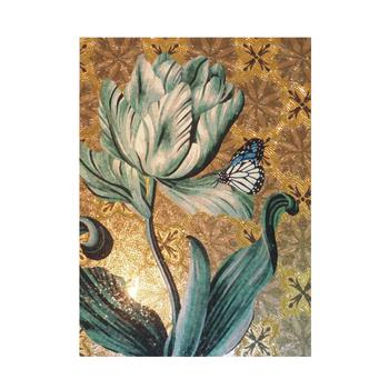 Pj007 de mosa que de carreaux de verre motifs vert fleur Point vert carrelage