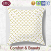 fish scale custom geometry pattern chevron simple color cushion