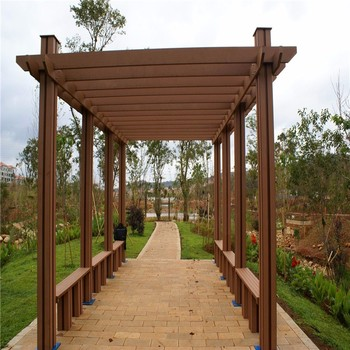2017 hot selling high quality engineered wood outdoor flooring wpc decking nice fit for swimming - Hout pergola dekking ...