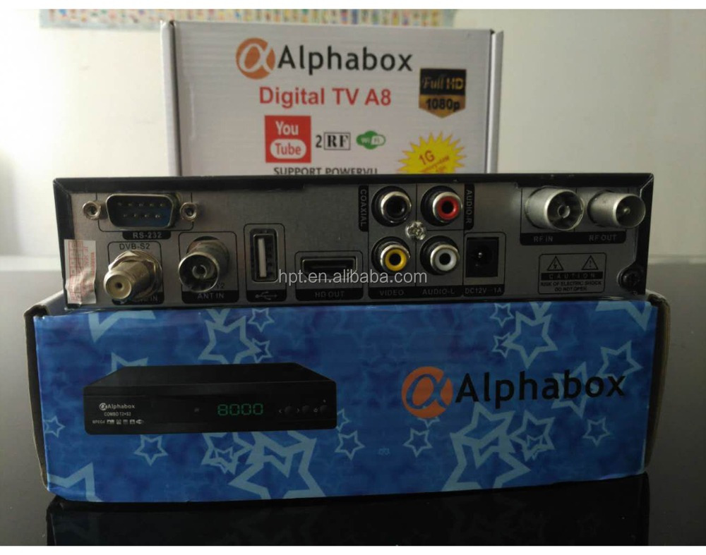 Alphabox A8 X4 X6 HD DVB-S2 with T2 COMBO biss power vu decoder biss auto roll hd record africa market
