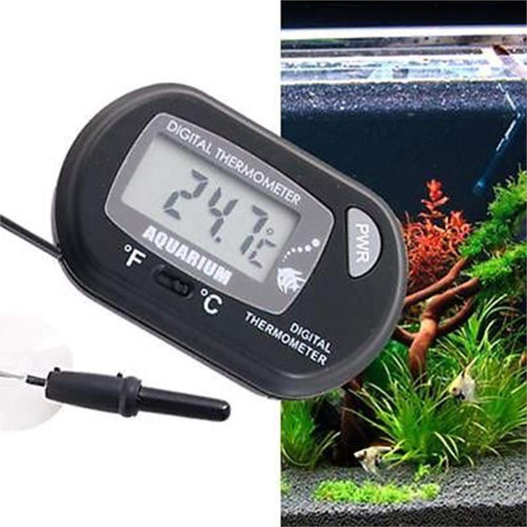 Topsame Black Digital LCD Fish Aquarium Reptile Terrarium Marine Vivarium Fish Tank Aquarium Thermometer with Suction Cup Wholesale