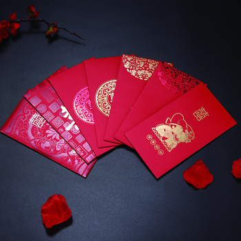 Hot Stamping Designed Chinese Money Packets Wedding Red Envelopes