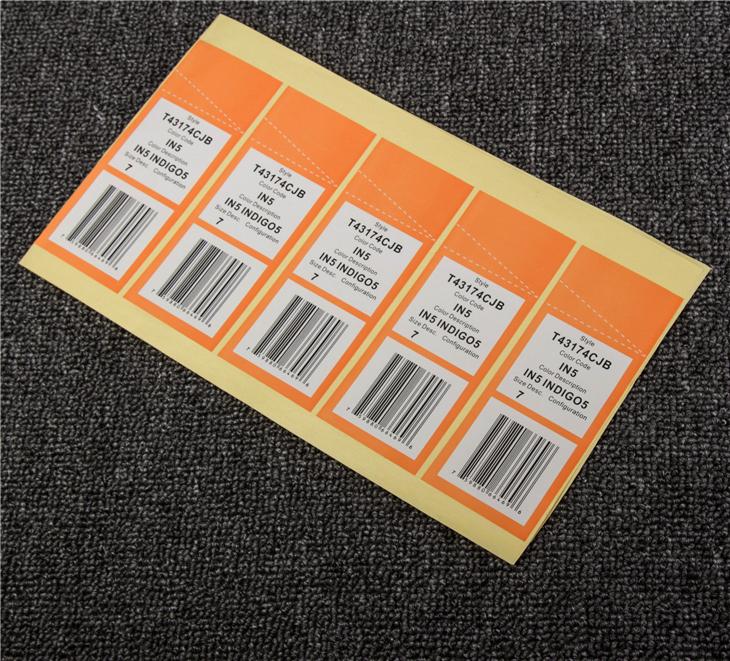 Custom Made Printed Adhesive Garment Labels Hs Code