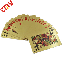 Royal 24 พัน Gold Foil Plated Playing Cards ดูไบกับกล่อง Golden 999.9 Gold Plated Playing Cards