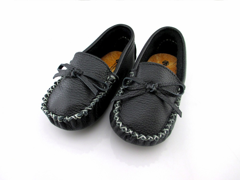 First top layer of leather baby boy & girl first walkers baby shoes flower prewalker toddler wholesale soft BDD003 black