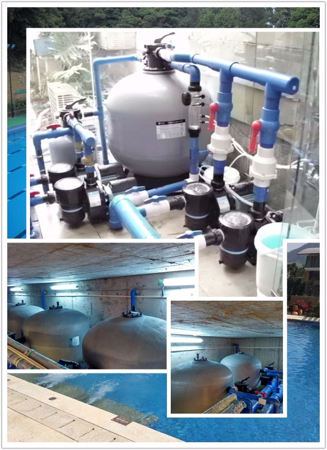 Swimming pool Top-Mount sand filter for water cleaning
