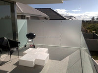 Best selling 12mm frosted tempered glass screens for glass balcony railing / wind wall