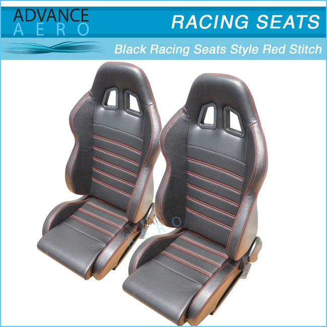 For Acura Integra Tsx Rsx Carbon Look Black Pvc Leather Car Seats ...