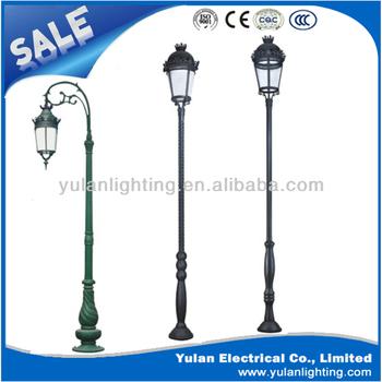 Charming Cast Iron Garden Light Pole/led Garden Lighting Pole/garden Lighting Pole  Lamp