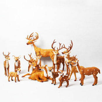 dieren echte kijken herten opknoping speelgoed miniatuur bont rendier