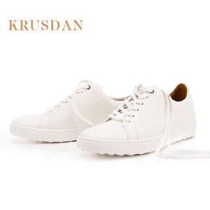 Custom logo white men china leather sneaker shoes by company factory