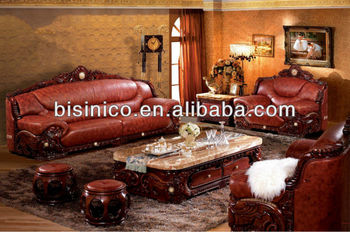 Southeast Asian FurnitureLiving Room Sofa SetCarved Wood Marble Top Coffee Table