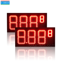 Outdoor Waterproof 10inch 8.889 Red Color LED Gas Price Display for Oil Station