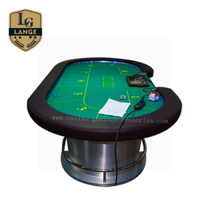 High End Heavy Duty Casino Electronic LED Poker Table For Sale