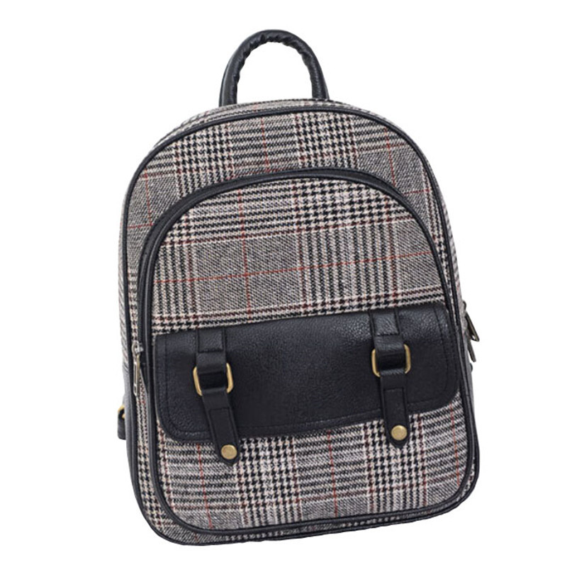 d4bbd0d179 Get Quotations · New 2015 Korean Women Backpack Fashion Casual Canvas Patchwork  Backpack High Quality Bags Size 33