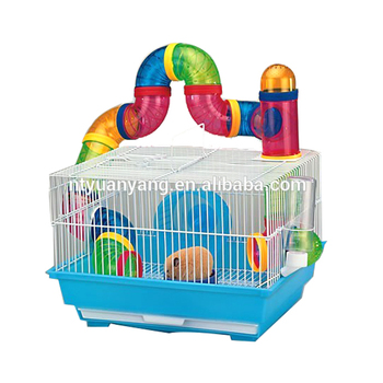 hot sale popular two layer plastic hamster cage China supply