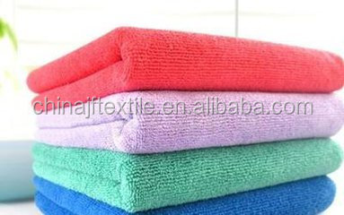 cheap plain color microfiber towels/clean clothes made in chinaJF53