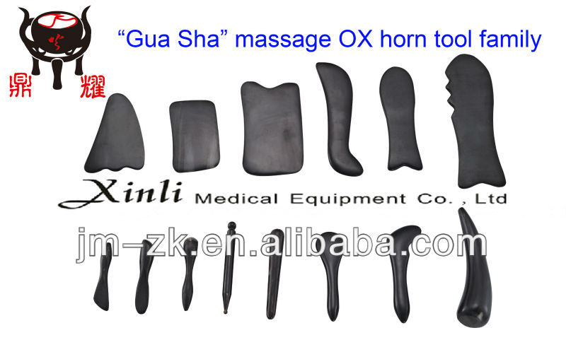 Nature ox horn Guasha massage therapy tooling