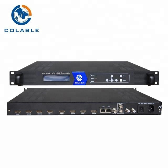 IPTV headend digital 1 channel cvbs encoder modulator dvb c 4RF keluar